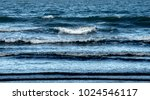 Blue Sea And Small Wave