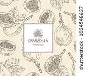 background with granadilla ... | Shutterstock .eps vector #1024548637