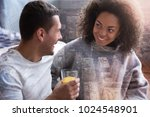 perfect couple. nice delighted... | Shutterstock . vector #1024548901