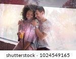 healthy drink. nice positive... | Shutterstock . vector #1024549165