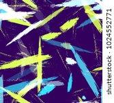 dry brush grunge strokes and...   Shutterstock .eps vector #1024552771