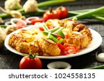 delicious vegetarian dish ...   Shutterstock . vector #1024558135