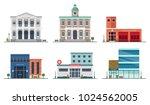 set of city buildings   city... | Shutterstock . vector #1024562005