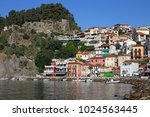 castle and old colorful... | Shutterstock . vector #1024563445