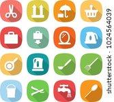 flat vector icon set   scissors ... | Shutterstock .eps vector #1024564039