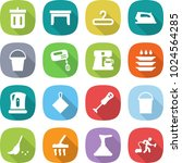 flat vector icon set   bin... | Shutterstock .eps vector #1024564285