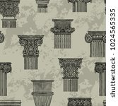 seamless pattern with vintage...   Shutterstock .eps vector #1024565335