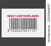 vector realistic barcode  made... | Shutterstock .eps vector #1024566697