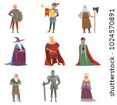 medieval people characters set  ... | Shutterstock .eps vector #1024570891