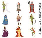 medieval people characters of... | Shutterstock .eps vector #1024570894