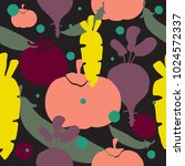abstract vegetables pattern....   Shutterstock .eps vector #1024572337