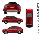 set compact city crossover red... | Shutterstock . vector #1024573171