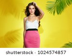 summer fashion. happy young... | Shutterstock . vector #1024574857