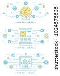 blockchain concept finance... | Shutterstock .eps vector #1024575535