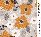 seamless pattern with flowers... | Shutterstock .eps vector #1024577305