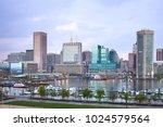 downtown city skyline and inner ... | Shutterstock . vector #1024579564