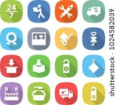flat vector icon set   24 7... | Shutterstock .eps vector #1024582039