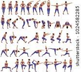 vector set of sillhouettes of...   Shutterstock .eps vector #1024582285