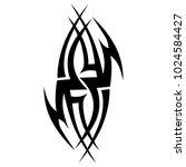 tattoo tribal vector design....   Shutterstock .eps vector #1024584427