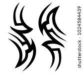 tattoo tribal vector design. | Shutterstock .eps vector #1024584439