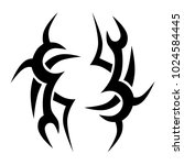 tattoo tribal vector design.... | Shutterstock .eps vector #1024584445