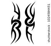tattoo tribal vector design. | Shutterstock .eps vector #1024584451