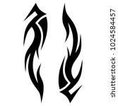 tattoo tribal flames  pattern... | Shutterstock .eps vector #1024584457
