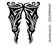 tattoo tribal vector design. | Shutterstock .eps vector #1024584469