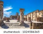 ancient ruins in pompeii ... | Shutterstock . vector #1024586365