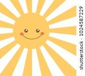 cartoon sun face. vector...   Shutterstock .eps vector #1024587229