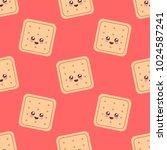 little cookie. cute character.... | Shutterstock .eps vector #1024587241