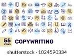 vector creative thin line... | Shutterstock .eps vector #1024590334