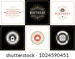 happy birthday greeting cards... | Shutterstock .eps vector #1024590451