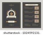coffee shop logo and menu...   Shutterstock .eps vector #1024592131