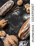 bakery   gold rustic crusty... | Shutterstock . vector #1024593007