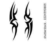 tattoo tribal vector design.... | Shutterstock .eps vector #1024593805