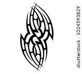 tattoo tribal vector design. | Shutterstock .eps vector #1024593829