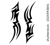tattoo tribal vector design.... | Shutterstock .eps vector #1024593841