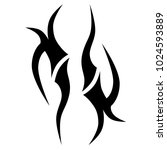 tattoo tribal vector design....   Shutterstock .eps vector #1024593889