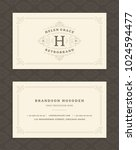 luxury business card and...   Shutterstock .eps vector #1024594477