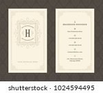 luxury business card and... | Shutterstock .eps vector #1024594495