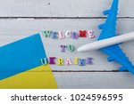 travel time   colorful wooden... | Shutterstock . vector #1024596595