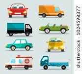 vector cars set. car icons. | Shutterstock .eps vector #1024598377