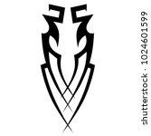 tattoo tribal vector design. | Shutterstock .eps vector #1024601599