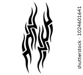 tattoo tribal vector design.... | Shutterstock .eps vector #1024601641