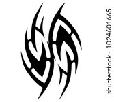 tattoo tribal vector design. | Shutterstock .eps vector #1024601665