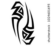 tattoo tribal vector design.... | Shutterstock .eps vector #1024601695