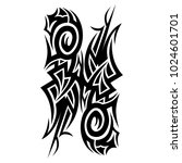 tattoo tribal vector design. | Shutterstock .eps vector #1024601701