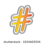 colourful 3d hashtag in vector... | Shutterstock .eps vector #1024603534