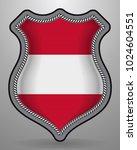 flag of austria. vector badge... | Shutterstock .eps vector #1024604551